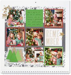 Scrapbook Templates, Scrapbook Designs, Scrapbook Sketches, Scrapbook Pages, Christmas Scrapbook Layouts, Scrapbooking Layouts, Photo Calendar, Scrapbooks, Christmas Crafts