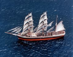 MaritimeQuest - Euterpe (1863)/Star of India The Star of India underway off San Diego, California.