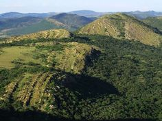 Massive upthrust caused by the Vredefort impact 2,020 million years ago, South Africa.