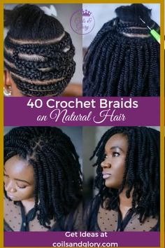 crotchet braids Crochet braids made a huge debut in 2015 and we're sure they are not going out of style anytime soon. Check out this list of chic Crochet Braids Hairstyles! Black Girl Braids, Girls Braids, Braids For Black Hair, Kid Braids, Afro Braids, Little Girl Braids, Crochet Braids Hairstyles, African Braids Hairstyles, Girl Hairstyles