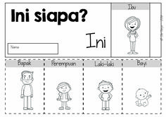 Indonesian Language, Counting Activities, Primary Classroom, School Readiness, Word Families, Mini Books, Infographics, Teaching Ideas, Kindergarten