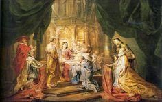 St. Ildefonso Receiving a Priest Cloak by @artistrubens #baroque