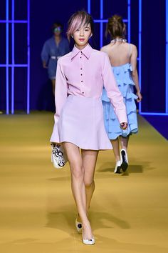 Irene Kim at Lucky Chouette Spring 2015 Seoul Fashion Week
