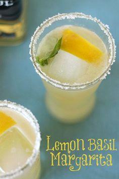 Lemon Basil Margarita www.veganmotherhu...