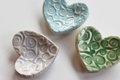 wee ceramic hearts