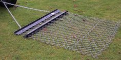 Chain Link Fence With Tow Chain Ready For Smoothing Fields
