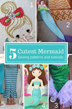 5 of the cutest little mermaid sewing patterns and tutorials. All the…