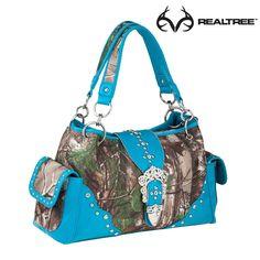 #NEW Realtree Xtra Camo Satchel Handbags With Blue Trim  #realtreeXtra #camohandbag