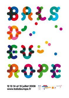 Affiche pour le Bal d'Europe, Fanette Mellier, 2008