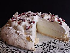 Citromhab: Ünnepi Pavlova Pavlova, Sweet Like Candy, Hungarian Recipes, Cakes And More, Cake Cookies, Sweet Treats, Cheesecake, Dessert Recipes, Food And Drink