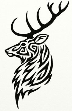 There are many reasons to opt for a tribal deer tattoo, and only you can know the true answer. Here are a few tribal deer tattoos worth considering. Tribal Animal Tattoos, Tribal Drawings, Tribal Animals, Tribal Art, Tattoo Animal, Cheetah Tattoo, Tribal Wolf, Tattoo Indien, Hirsch Tattoos