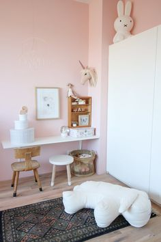 Splendid inspiring ideas to discover Baby Bedroom, Girls Bedroom, Pastel Girls Room, Ikea Play Kitchen, Creative Kids Rooms, Home Remodeling Diy, Little Girl Rooms, Interior Design Living Room, Decoration
