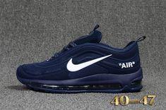 Cheap Off White X Nike Air Max 97.2 KPU Mens shoes #Blue #White #Max97.2 WhatsApp:8613328373859