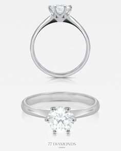 Truly graceful - our 'Grace' classic engagement ring. #77diamonds