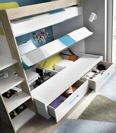 Sácale partido a las habitaciones pequeñas. Literas modernas. Gran funcionalidad para espacios reducidos. Entrega y montaje GRATIS Península.