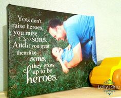 Fathers Day photo ideas; we want to name our first born son Hero. This would be perfect.