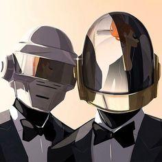 Tribute to Daft Punk. #illustrator #digital #artistoninstagram #matthieuforichon #wacom @wacom @daftpunk