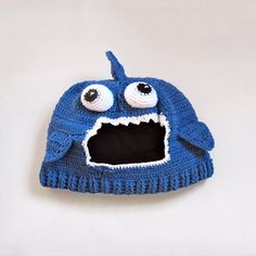 Check out this cute hand-crocheted Shark Hat!  I need to learn to Crochet, I suppose.  ;)
