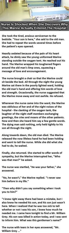 She Thought The Marine Was Just Visiting His Father. This Is Amazing. - http://clk.im/tCOV8