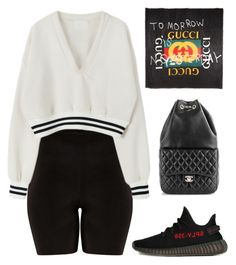 """Untitled #582"" by za-r-ia ❤ liked on Polyvore featuring adidas, Gucci and Chanel"