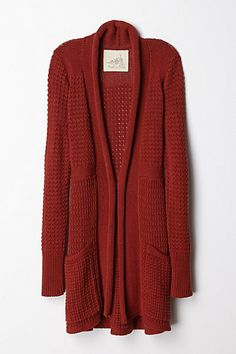 Matinee cardigan @ anthropologie in red