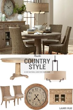 Country Living At Its Best With Rustic Country Dining Room Furniture