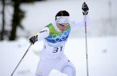 Charlotte Kalla, Sweden. One of the gutsiest and most inspiring moments of the Olympics so far.