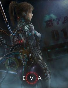 by Robin Hsu (artist by artstation). Female Cyborg, Female Armor, Cyberpunk Girl, Cyberpunk Character, Character Inspiration, Character Art, Science Fiction, Sci Fi Wallpaper, Arte Robot
