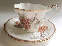 Salisbury Tea Cup and Saucer English Teacups by AprilsLuxuries China Cups And Saucers, Teapots And Cups, China Tea Cups, Teacups, Royal Tea, Antique Tea Cups, Le Diner, Tea Cup Saucer, High Tea