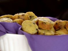 Blueberry Corn Muffins with Vanilla Butter recipe from Ree Drummond via Food Network