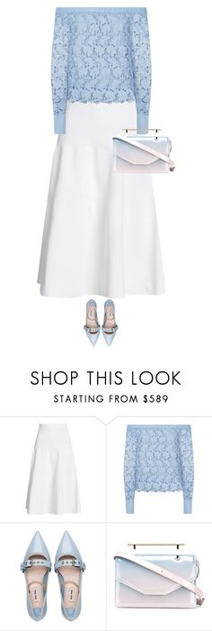 """""""midi"""" by ecem1 ❤ liked on Polyvore featuring Victoria Beckham, Robert Rodriguez, Miu Miu and M2Malletier"""