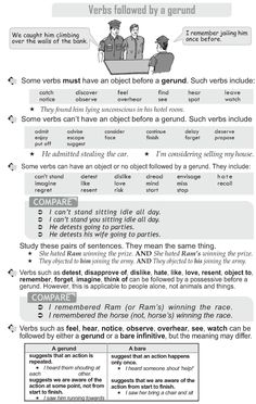 Grade 10 Grammar Lesson 23 Verbs followed by a gerund
