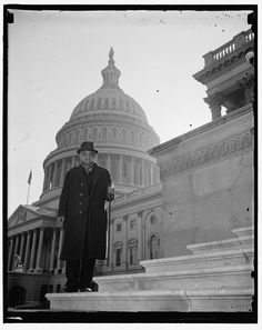 [William Andrew Johnson, former slave to former President Andrew Johnson, who was presented with a silver handled cane by President Roosevelt on a visit to Washington in 1937. Photo taken on steps of U.S. Capitol, Washington, D.C.] Photo by Harris & Ewing, 1937. http://hdl.loc.gov/loc.pnp/hec.22206