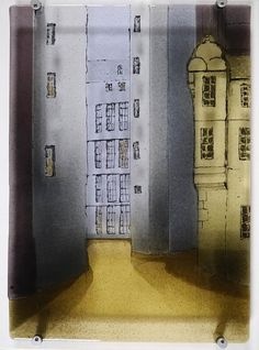 Back Streets - Glass Panel by Apsley Designs  Copyright remains with the artists  #apsleydesigns