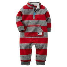 Rugby Stripe Fleece Jumpsuit | Carters.com