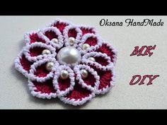 МК Красивый цветок крючком. Crochet flowers - YouTube