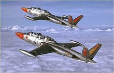 The long serving Fouga Magister trainer, formerly in service with France… Drones, Military Jets, Military Aircraft, Air Fighter, Fighter Jets, Top Gun, France Sport, Reactor, Photo Avion