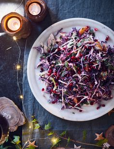 Dive into this vegetarian jewelled winter slaw recipe from Jackson and Levine
