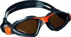 Aqua Sphere Kayenne Polarized Lens Goggles, Grey/Orange