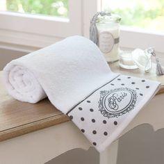Asciugamano da toilette bianco in cotone 50 x 100 cm PARIS