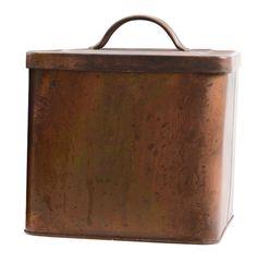 Decoris+opbergdoos+zink+31x18x24cm+koper