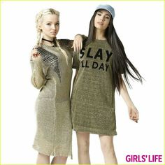 Dove Cameron and Sofia Carson for the June/July issue of Girls Life Magazine out now.