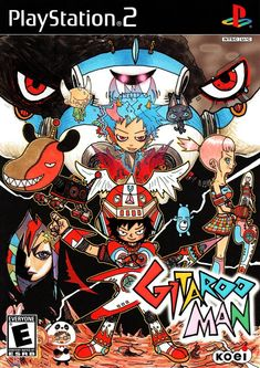 Gitaroo Man - Gitaroo Man is the latest addition to the Bemani (Beatmania) genre. Taking on the role of the implausibly named you discover, via your talking dog, of course, that you are the last Gitaroo Man and thus are destined to save your pla Dance Games, Japanese Video Games, Man Japan, Game Of The Day, Rhythm Games, Gamers, Playstation Games, You Draw, Video Game Art