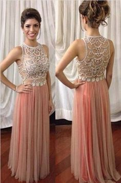 Sexy Prom Dresses,Sleeveless Prom Dress,Beading Prom Dress,Illusion Back Formal Gown,Gorgeous Prom Dress,Cheap Evening Dress,2017 Prom Dress,PD00251