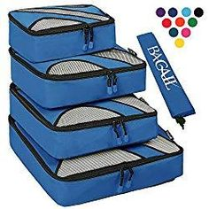 Shop for 4 Set Packing Cubes,travel Luggage Packing Organizers With Laundry Bag Blue. Packing For A Cruise, Packing Cubes, Packing Tips, Travel Packing, Travel Luggage, Luggage Packing, Cruise Tips, Packing Checklist, Travel Tips