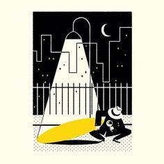 Simone Massoni's film noir-inspired illustrations for The New Yorker
