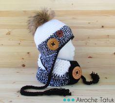 Crochet hat and cowl pattern Tuque et cache-cou patron au crochet.