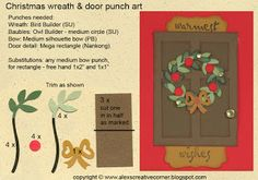 Alex's Creative Corner - Christmas wreath punch art card