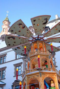 Weihnachtsmarkt in Leipzig. I have a pic of this at night. It's so fun!