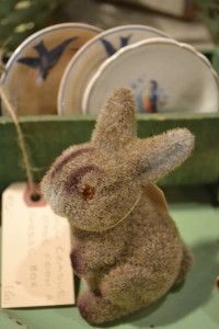 vintage felted bunny